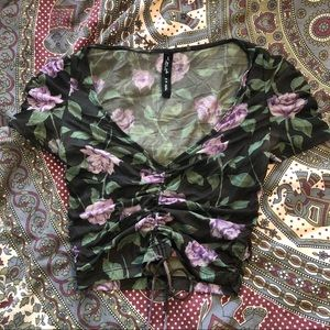 Urban outfitters sheer floral top